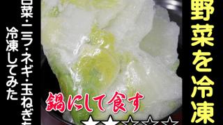 野菜は冷凍できるのか?白菜・ニラ・ネギ・玉ねぎを冷凍してみた!