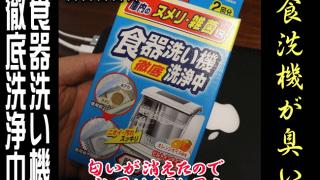食洗機が臭う!小林製薬の「食器洗い機徹底洗浄中」で食洗機を洗浄してみた