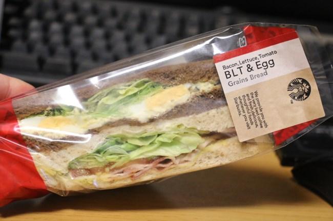 スタバ:グレインブレッド BLT&エッグを食べてみた