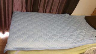 レビュー:ニトリの冷感ベッドカバー「Nクール」。ヒンヤリしていて気持ちいいです