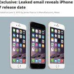【iPhone 6s】2015年9月25日発売、正式発表は9月8日か?イギリスのボーダフォンから情報流出か