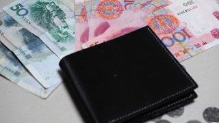 海外出張に最適な小銭入れ付きの超薄い財布(1980円)を購入