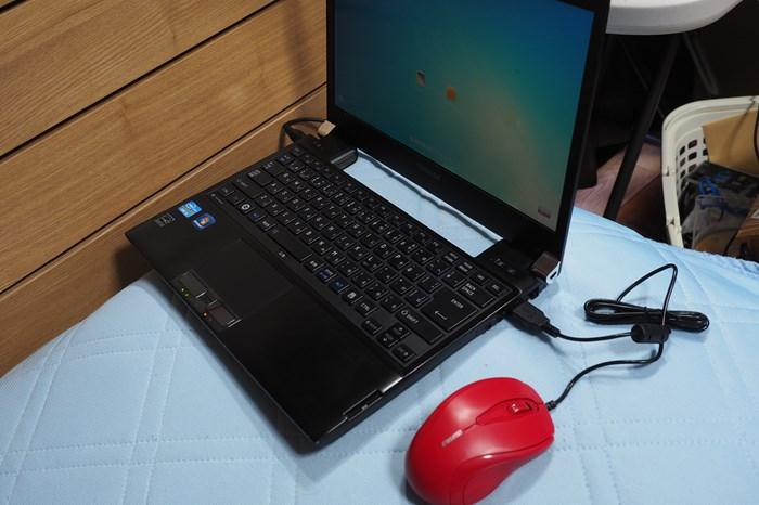 バッファローの超安い有線マウスをゴロ寝PC用に買ってみた(Buffalo BSMRU21)