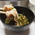 【よしだ飯】特性ニンニクポン酢で食べるキムチしゃぶしゃぶ