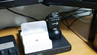 SDカードリーダーを手元に設置するのに便利なスタンド付きUSB延長ケーブル