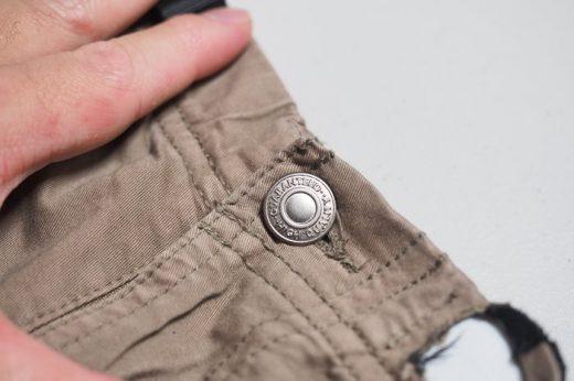 【ズボンのボタン】簡単に取り付けできて絶対に取れない「タックボタン」が素晴らしい!!
