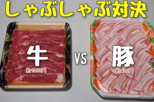 【検証】しゃぶしゃぶは豚と牛のどっちがおいしいのか?