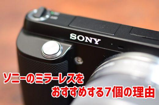 僕がソニーのミラーレス一眼カメラをお勧めする7個の理由